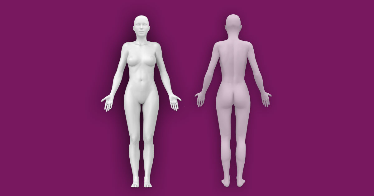 Interactive Female Anatomy Template [Front - Back]